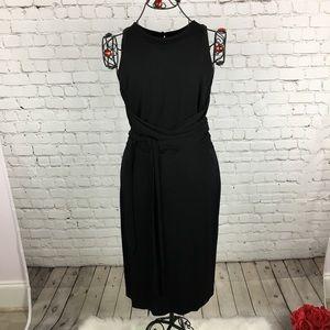 Lauren Ralph Lauren Black Wrap Dress Sz L